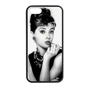 SUUER Custom Audrey Hepburn Design Personalized Custom Hard Case for iPhone 4 4s Durable Case Cover