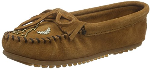 Minnetonka Womens Môko Moc Brown Suede