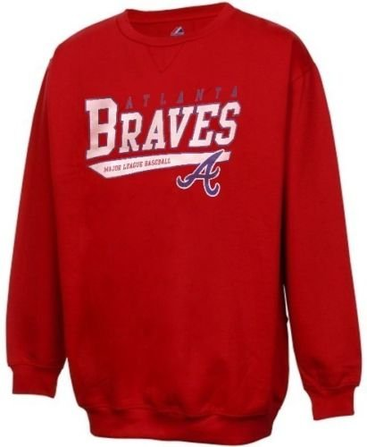 lanta Braves Discounted MLB Licensed Off Color Print Sweatshirt Big Sizes (3X) ()