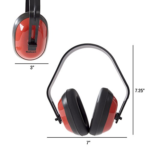 Safety Ear Muffs for Hearing Protection, Adjustable With 26 DB Noise Reduction By Stalwart (For Shooting Ranges, Mowing, Hunting and Construction) by Stalwart (Image #1)