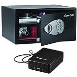 SentrySafe Digital Security Safe with Electric Lock (X105) Bonus Includes Compact Portable Security Safe