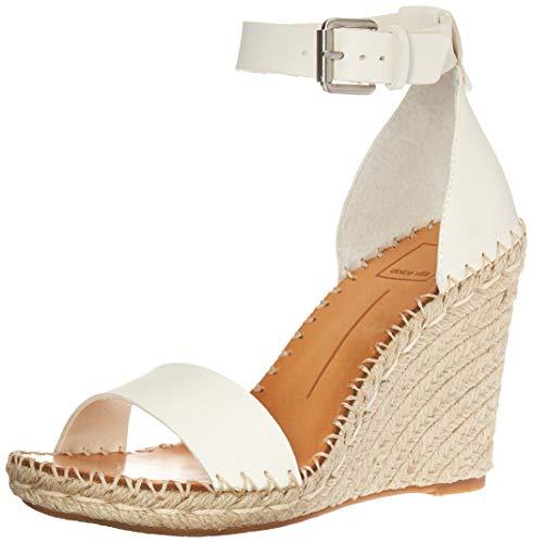 - Dolce Vita Women's Noor Wedge Sandal, White Leather, 8 M US