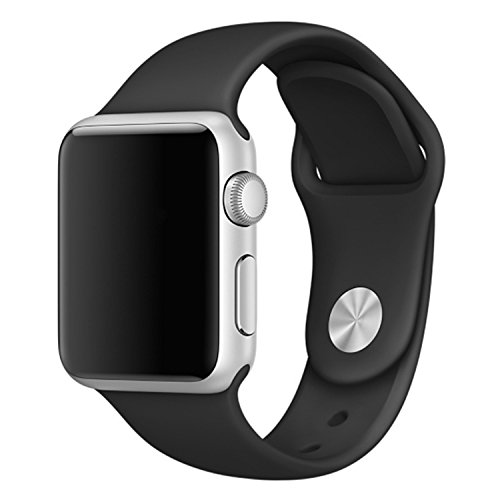 Silicone 38mm Watchband for iWatch Apple (Black) - 7