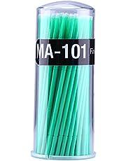 Yimart® 400pcs Desechable Mascara Aplicador Micro Cepillo Individual Pestañas Extensión Microcepillos