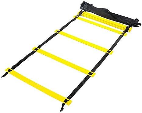 Agility Escalera de velocidad para niños adultos fútbol patines velocidad entrenamiento, 6m+12rungs: Amazon.es: Deportes y aire libre