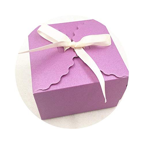 20pcs Colourful Gift Box Kraft Paper Storage Boxes Packing Boxes,Purple,6.5x6.5x4.5cm