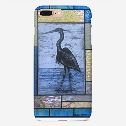Case Blue Heron - ZHIQCH iPhone 7/8 Plus Case Blue Heron with Blues Slim Fit Hard Plastic Cover Cases Full Protective Anti-Scratch Resistant Compatible with iPhone 7/8 Plus