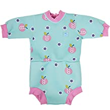 Splash About Baby Happy Nappy Wetsuit- 2 in 1 Baby Wetsuit and Diaper (Large 6-14 Months, Apple Daisy)
