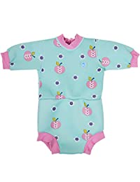 Splash About Baby Happy Nappy Wetsuit- 2 in 1 Baby Wetsuit and Diaper (Medium 3-8 Months, Apple Daisy)