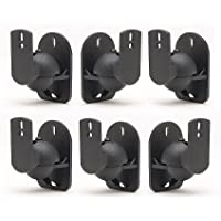 TechSol Essential TSS1-B - 6 Pack of Black Universal Speaker Wall Mount Brackets