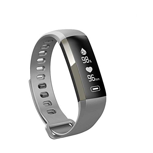 XFCS M2 Smart Wrist Band R5 PRO Heart Rate Blood Pressure Oxygen Oximeter Sport Bracelet Watch Intelligent for iOS Android-Grey