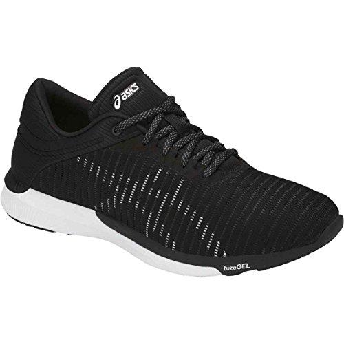 Asics Herren fuzeX Rush Adapt Schuhe Black/White/Dark Grey