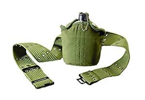 Texsport 1 Quart Aluminum Canteen with Cover and Belt
