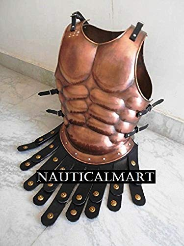 Roman Muscle Breast Plate Medieval Armor Cuirass Copper Antique Finish]()