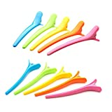 Aisxle Professional Multicolor Plastic Alligator Hair Clips Barrette 10 Pcs for Women and Girls Fashion Clips for Ladys