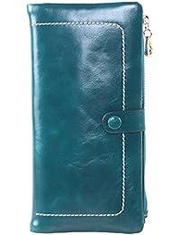 Luxury Large Women's Genuine Leather Long Zipper Wallet Ladies Clutch Purse