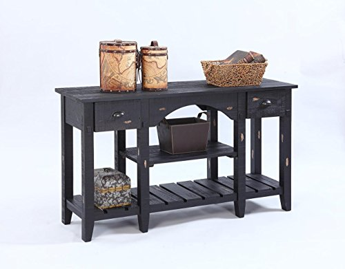 Console Table Black/52''L x 16''W x 30''H - 52' Console