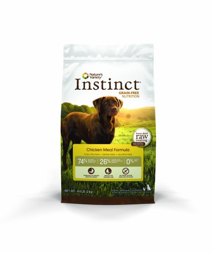 Instinct Original Grain Free Chicken Meal Formula Natural Dry Dog Food by Nature's Variety, 4.4 lb. Bag