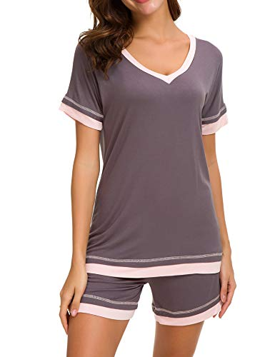 Dolay Sleep Sets Womens Pajama Short Sets Soft Knit Lounging Night Wear...