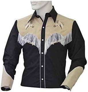Camisa Western Unisex de algodón con flecos y bordados Equitación ropa camisas cicalzoo: Amazon.es: Deportes y aire libre