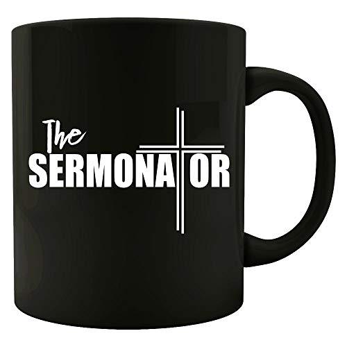 Funny Pastor - The Sermonator - Religious Community Leader Minister Humor - Mug