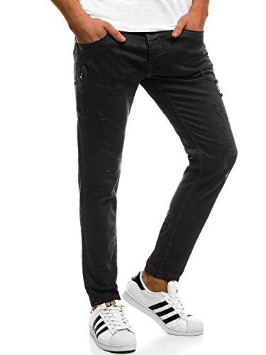 OZONEE Hombre Pantalones Vaqueros Pantalón Chándal Pantalones Deportivos Pantalones de Ocio Pantalón chándal Jogger Otantik 1805 Negro _ Ozonee B/8007