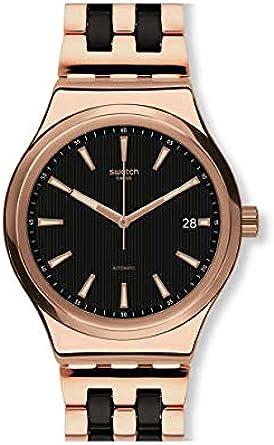 Swatch Reloj Analógico para Hombre de Automático con Correa en Acero Inoxidable YIG400G