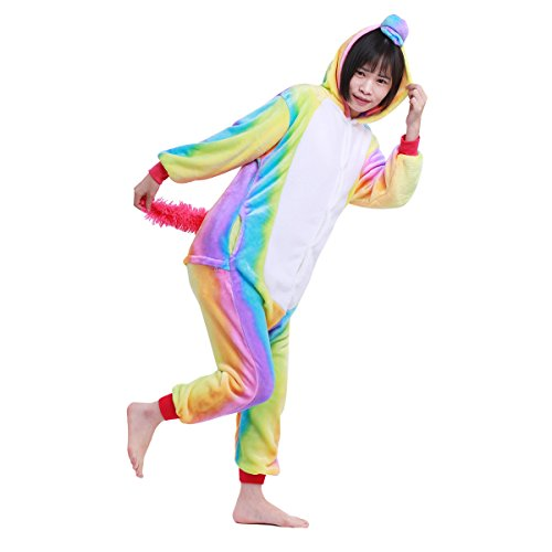 a973acae4c497 YiZYiF Kids Unicorn Cosplay Pajamas Animal One Piece Jumpsuit Costume  Christmas Carnival Warm Sleepwear colorful 10