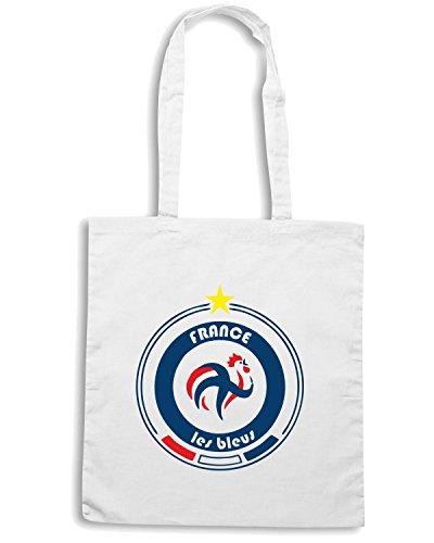 T-Shirtshock - Bolsa para la compra WC0678 World Cup Football Team France Blanco