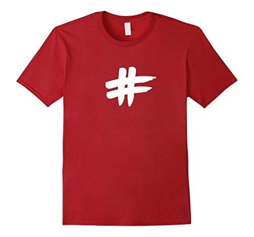 Mens Halloween Costume Hashtag Photos Bird DIY Idea Funny T-shirt XL Cranberry