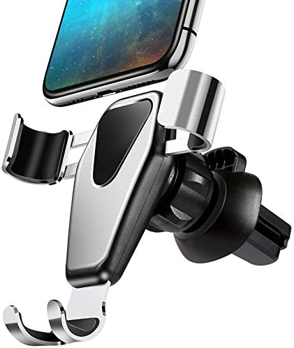 Ebow Air Vent Phone Holder Gravity Reaction Car Mobile Phone Holder Clip Type Air Vent Monut for All GPS Smart Phone Black