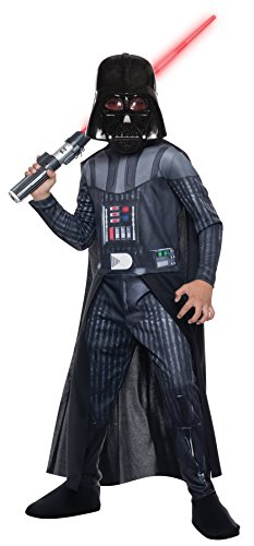 Scary Darth Vader Kids Costumes (UHC Darth Vader Anakin Skywalker Outfit Movie Theme Child Halloween Costume, Child L (12-14))