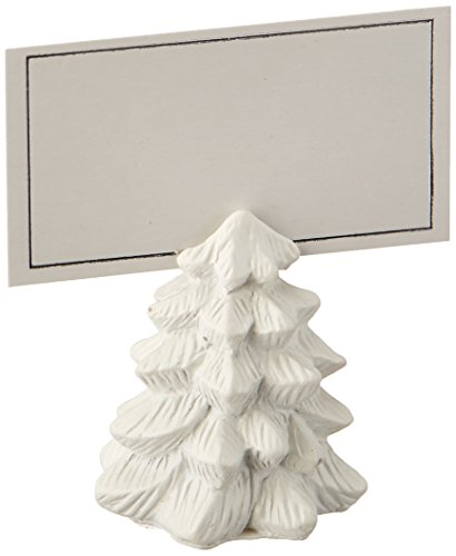 Kate Aspen Pine Tree Place Card Holders (Set of 6) Placecard, White (Place Card Holder Christmas Tree)