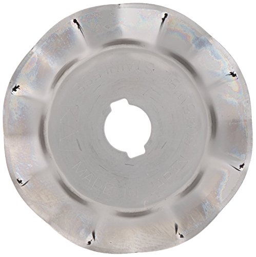 (PRYM/OLFA 611365 Spare blade WAVES for rotary cutters Size 45mm, 1 piece)