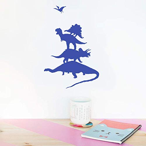 Vinyl Wall Lettering Stickers Quotes and Saying Dinosaur Stack for Nursery Kids Room Boys Girls - Stack Sayings Sticker