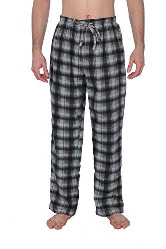 - Active Club Fleece Lounge Plaid Pajama Pants for Men - Adjustable Waistband