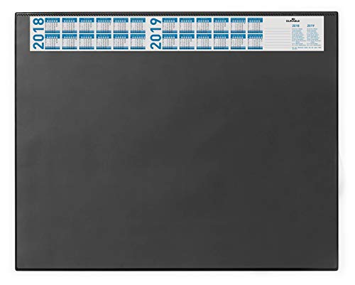 Price comparison product image DURABLE Desk Pad with Calendar, 20-1/2 x 25-1/2 Inches, Black (720401)