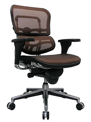 Eurotech Seating Ergohuman ME8ERGLO-ORANGE(N) Mid Back Mesh Swivel Chair, Orange