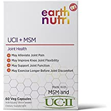 EarthNutri UC-II + MSM / Joint Health Supplement // 40mg UC-II Providing 10mg Total Collagen Including Undenatured Type II Collagen & 1000mg MSM with NO Additive Individually Blister Sealed