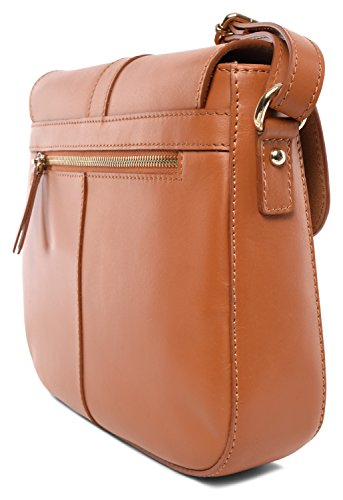 TALENT , Borsa Messenger  marrone cognac