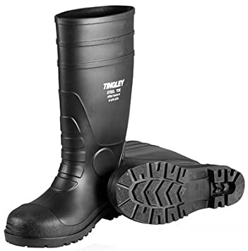 Amazon.com: Tingley Rubber #31244.04 SZ4 Black Steel Toe Boots ...