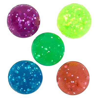 Rhode Island Novelty 27mm 1 Inch Glitter Bouncy Balls, 144 Balls: Home & Kitchen