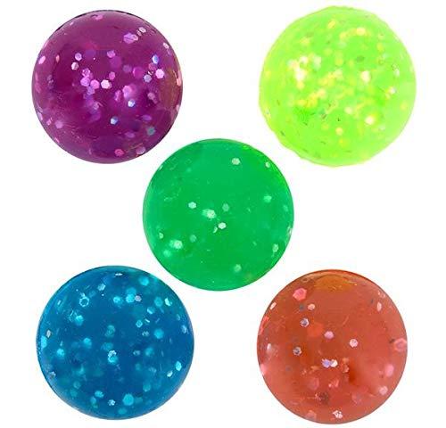 Rhode Island Novelty 27mm Glitter Bouncy Balls | 144 balls -