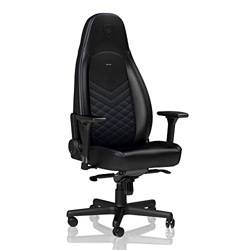 noblechairs ICON Gaming Chair - Office Chair - Desk Chair - PU Leather - Black/Blue noblechairs