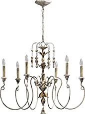 Six Light Persian White Up Chandelier 6006-6-70
