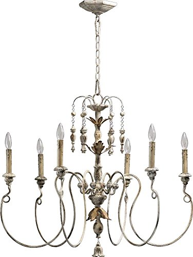 Country Chandelier Style (Quorum International 6006-6-70 Salento 6 Light Chandelier, 32