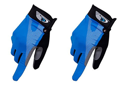 Perfect for Summer Use Climbing Gloves Outdoor Sport Gloves Gym Gloves Blue by Panda Superstore