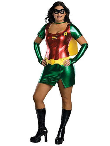 (Batman Secret Wishes Robin Costume Dress, Red/Green,)
