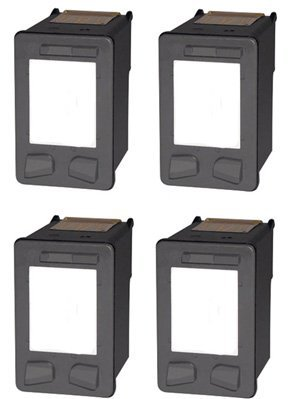 Generic Remanufactured Ink Cartridge Replacement for HP 98 (C9364WN) (Black, 4-Pack)