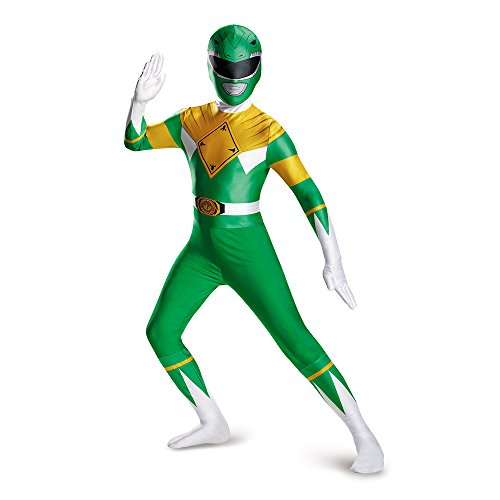 Disguise Men's Green Ranger Bodysuit Costume Teen, Green, Large (Teen Green Ranger Bodysuit Costume)